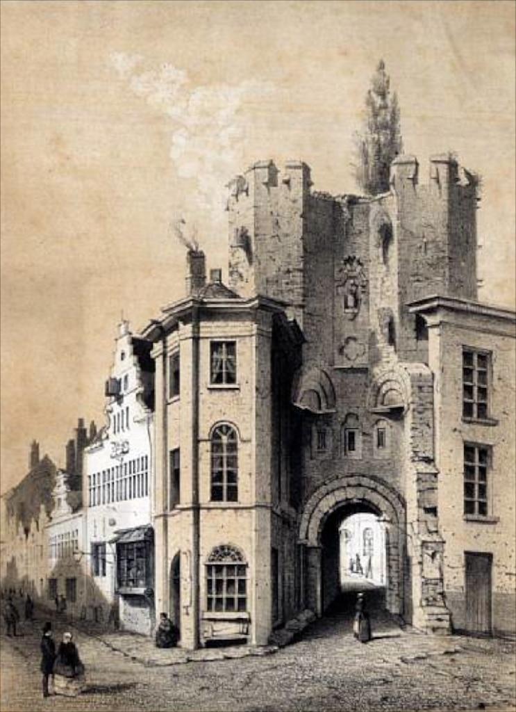 Рисунок ворот замка век XIX