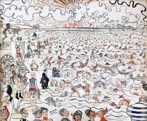 Джеймс Энзор Пляж в Остенде