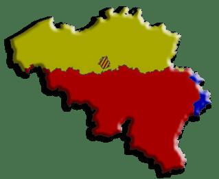 Языковая карта Бельгии