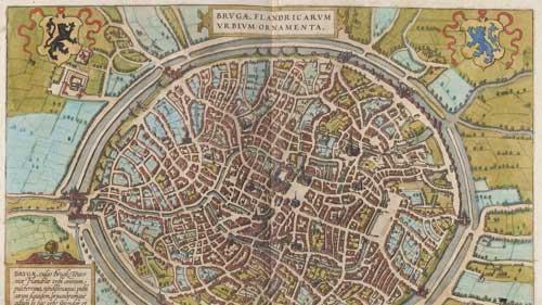 Брюгге антикварная карта