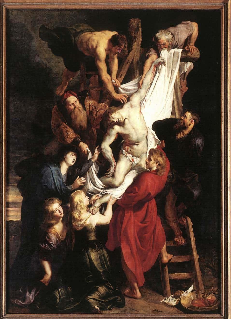 Снятие с креста Рубенс (деталь)