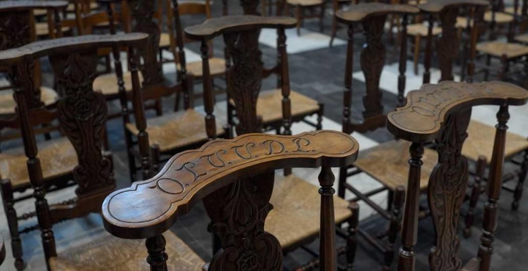 Интерьер церкви Богоматери Поттери