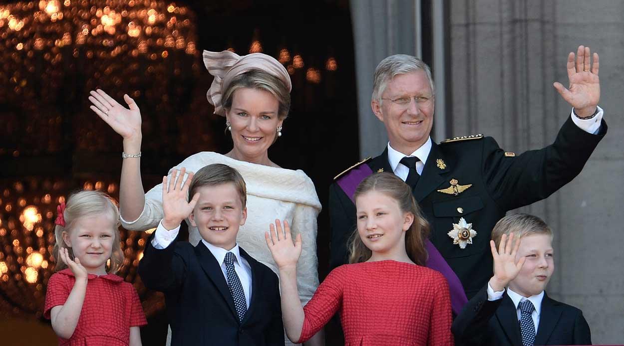 Король Филипп с семьей
