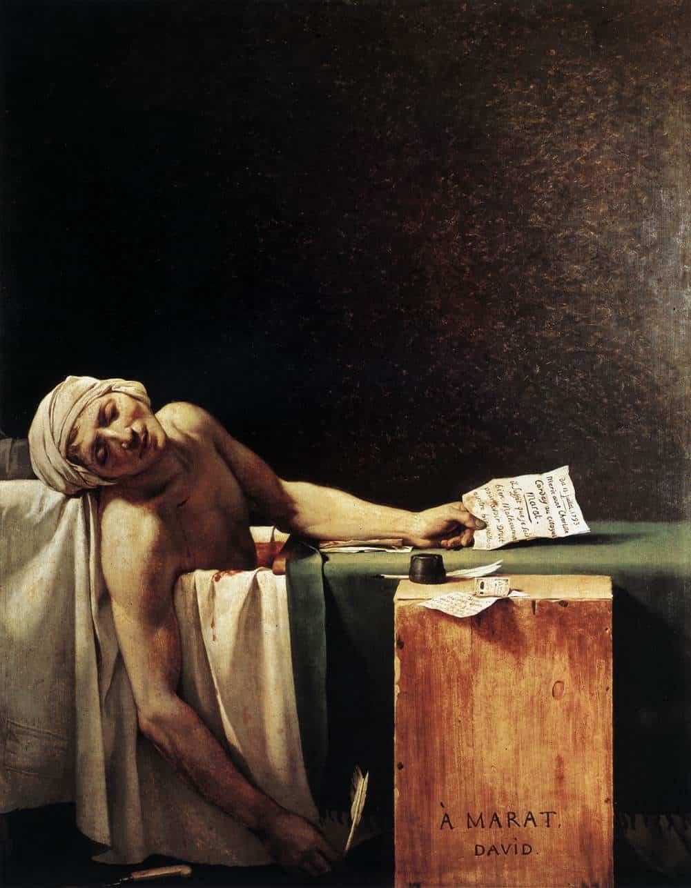 Смерть Марата Жака Луи Давида