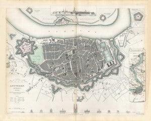 Антверпен карта 1832 год