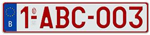Бельгийские автомобильные номера