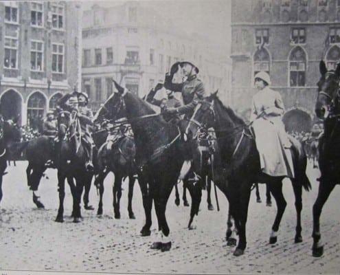 Альберт и Елизавета посещают Брюгге 1918 год