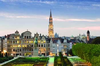 Брюссель вид города