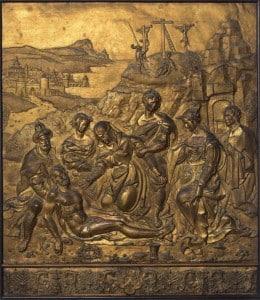 Страсти Христовы, ок. 1524-1530 гг., позолоченная медь, Pieter Walfgank