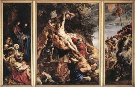 Рубенс Водружение креста