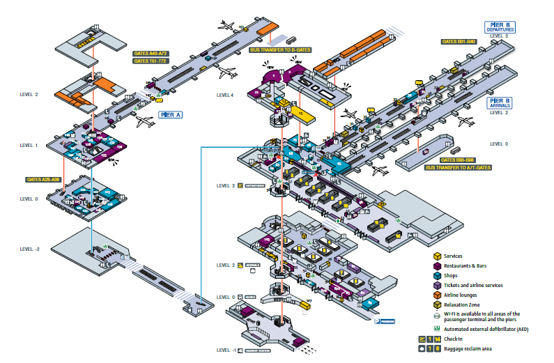 Брюссель аэропорт схема